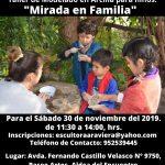 """Taller de Modelado en Arcilla, para niños """"Mirada en Familia"""""""